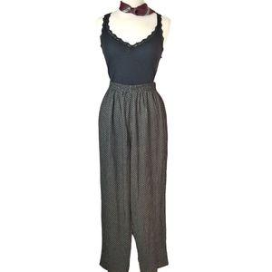 Vintage 80s 90s High Waist Flowy Rayon Pants